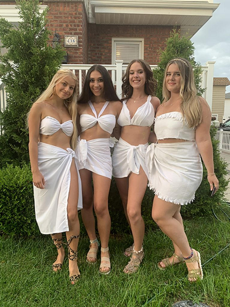 Group of girls in cute Togas