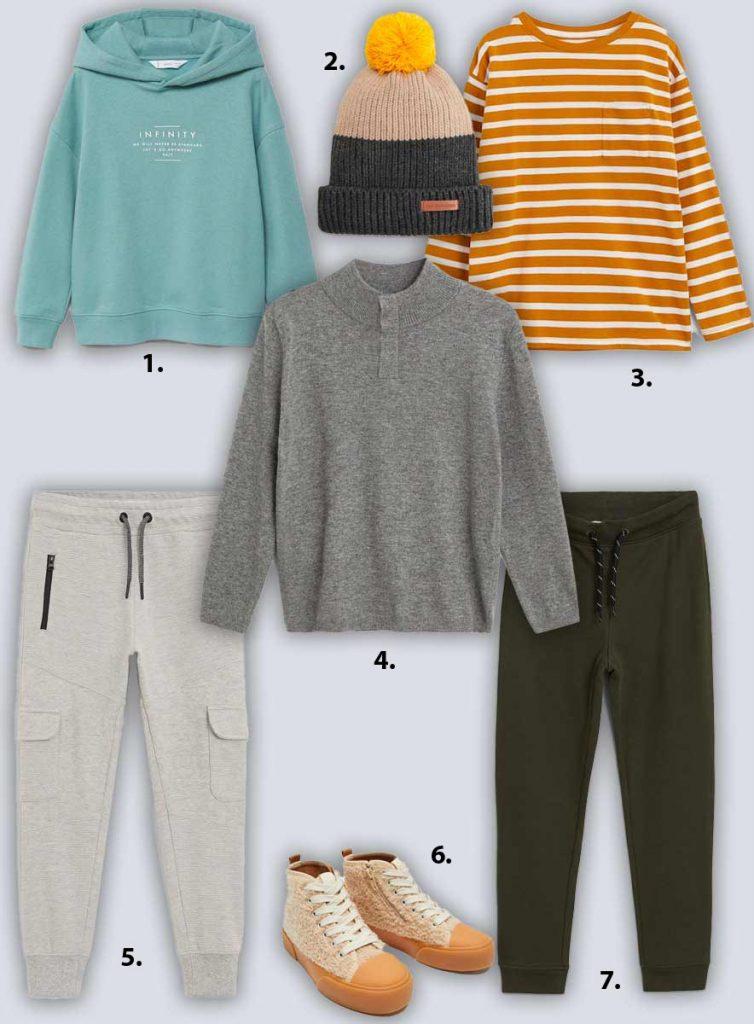 Cozy Fall boys clothing from Mango