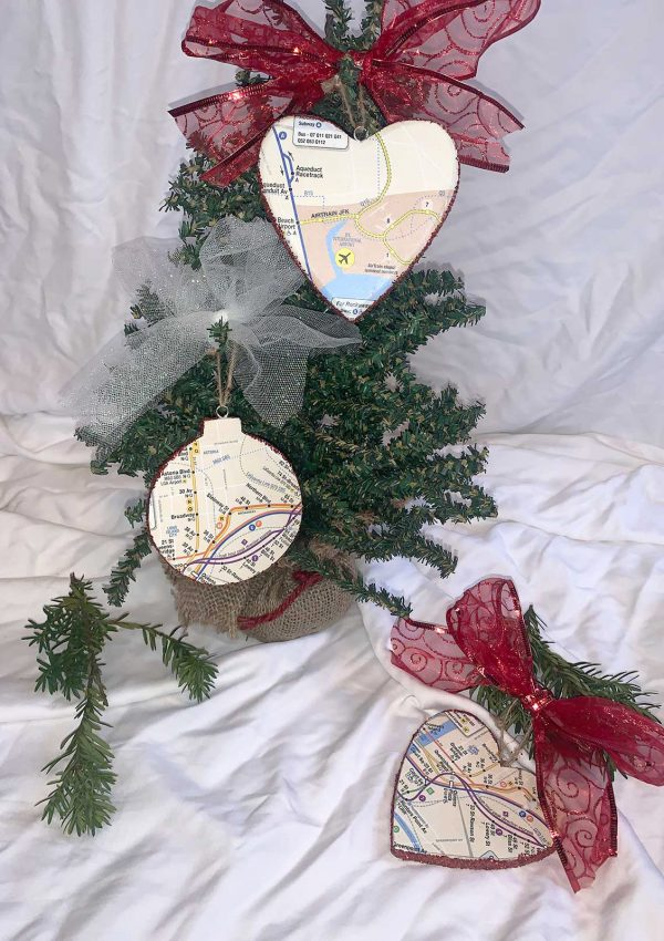 Easy DIY NYC Subway Map Ornaments