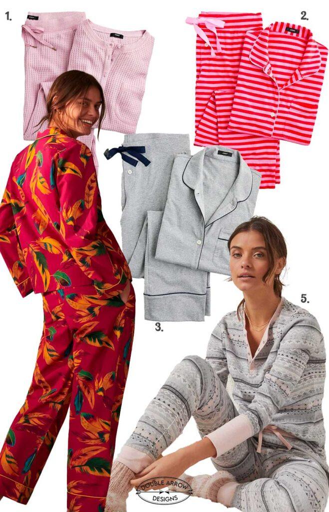 selection of five pairs pajama sets