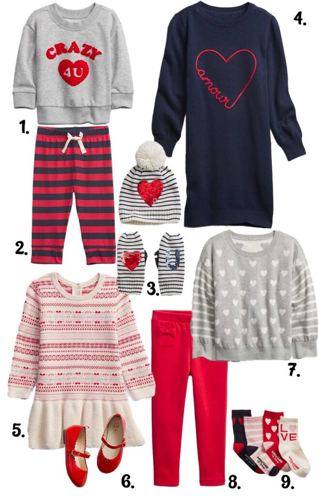 Valentines day clothes for kids from gap