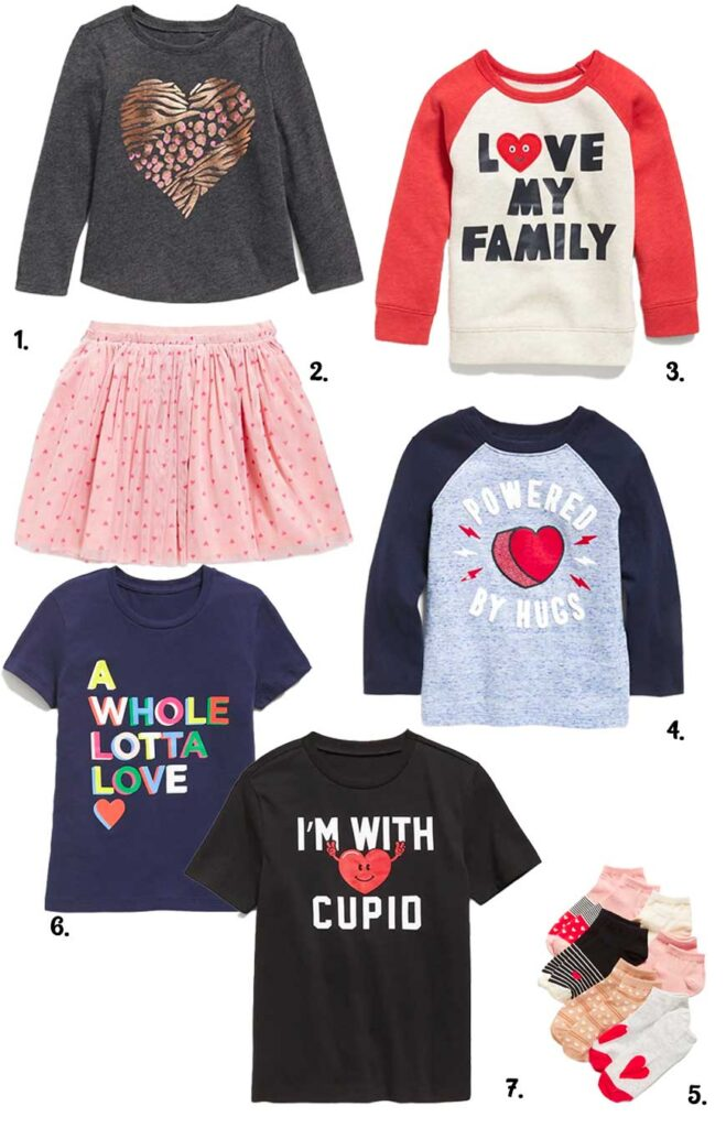 fun Valentines day clothes for kids at old navy
