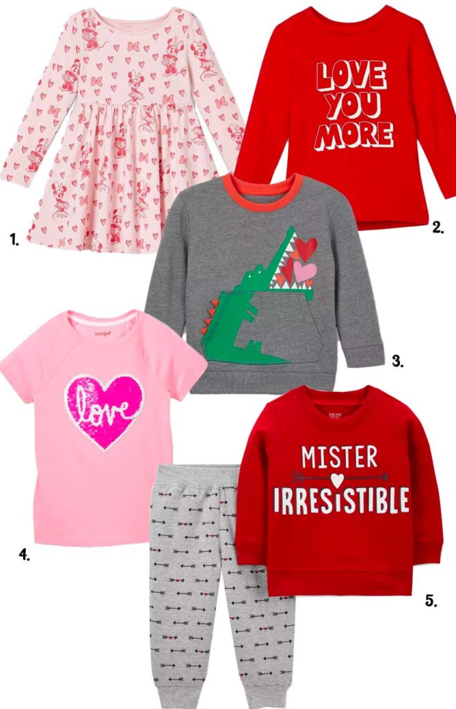 Valentines day clothes for kids at target