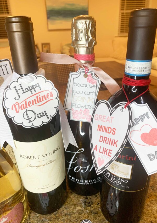 14 Valentine's Day Wine tags That Are Free