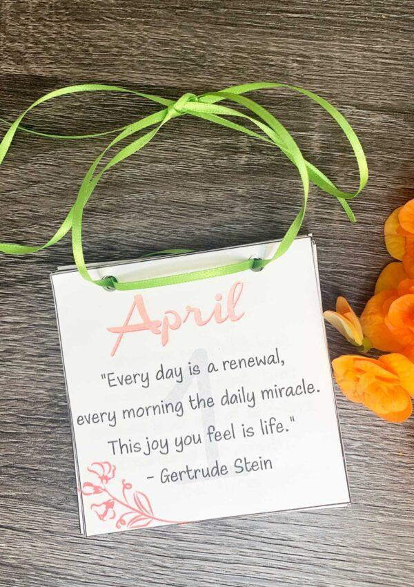 Printable April 2021 Calendar- Free and inspiring for Spring