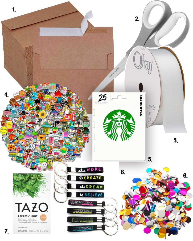 supplies for open when letters for college students