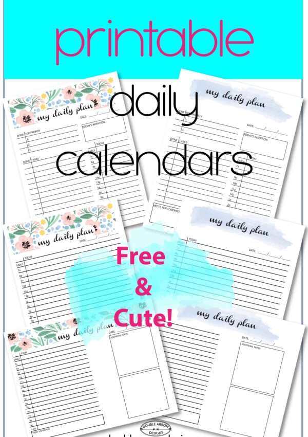 Cute Daily Planner-Lots of Options!