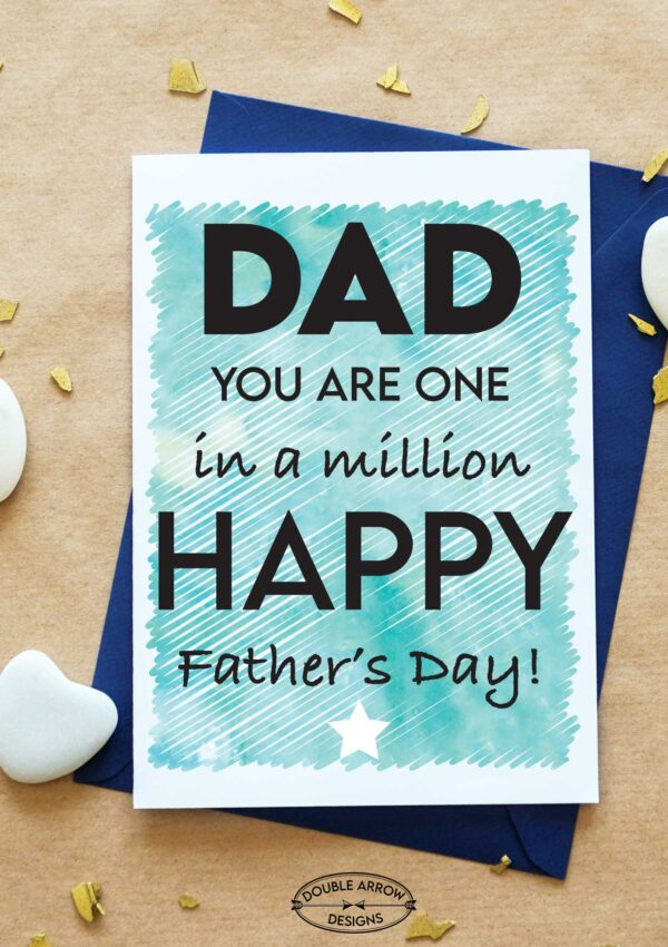 Father's Day Card Printables- With An Envelope!