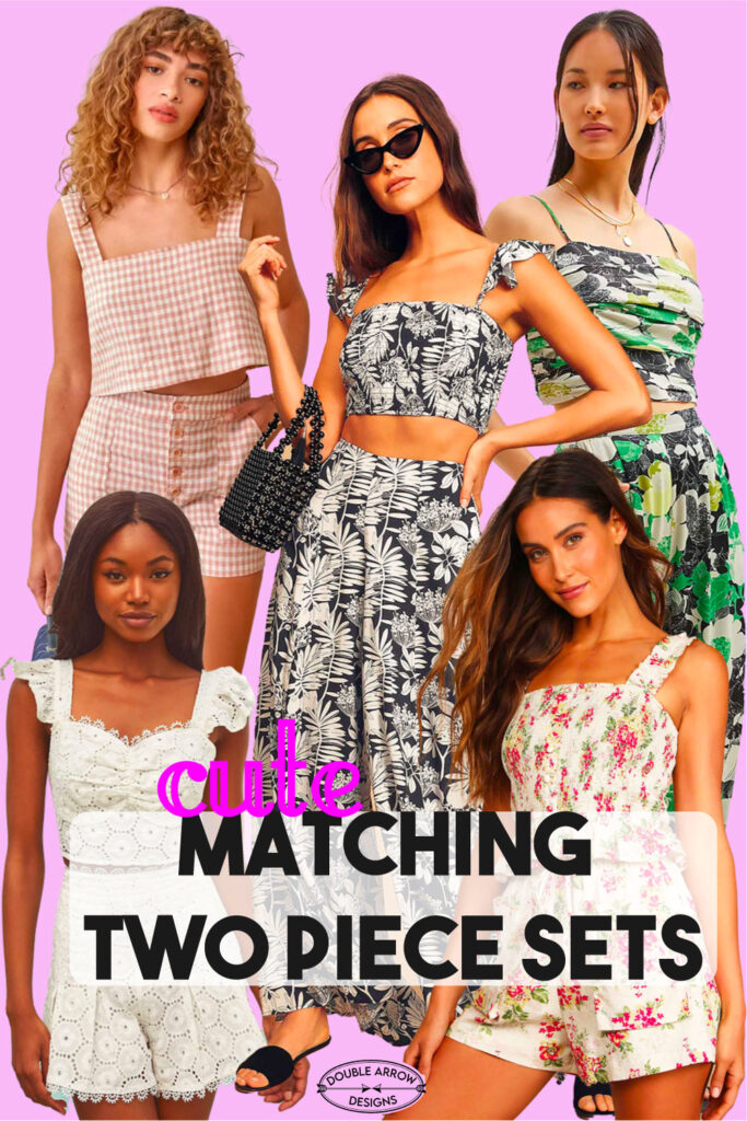 Models in matching two piece sets for summer