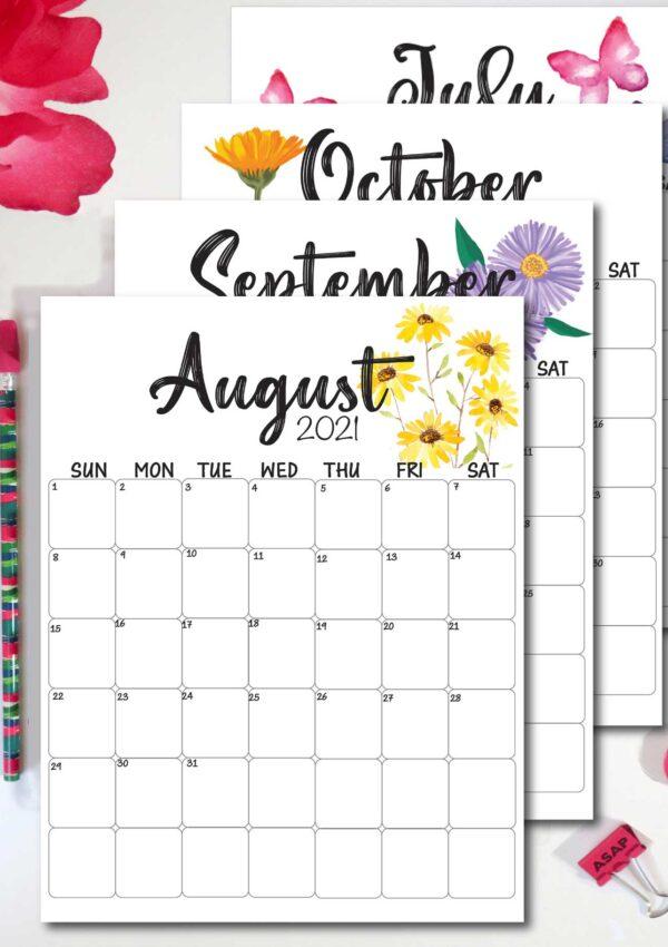 2022 Calendar Template- Printable and Free!
