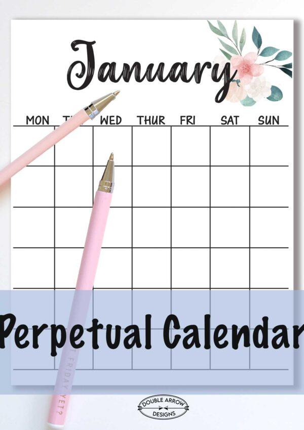 Perpetual Calendar Printable That's Free!
