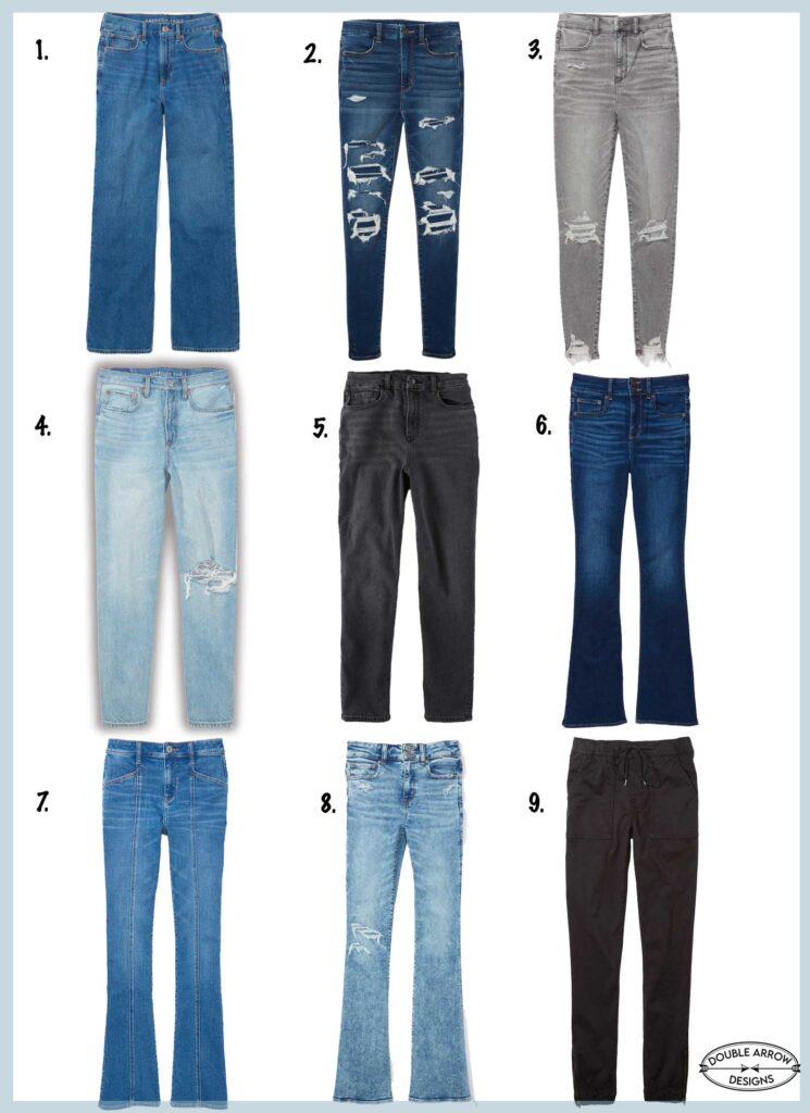 plus size jean selection
