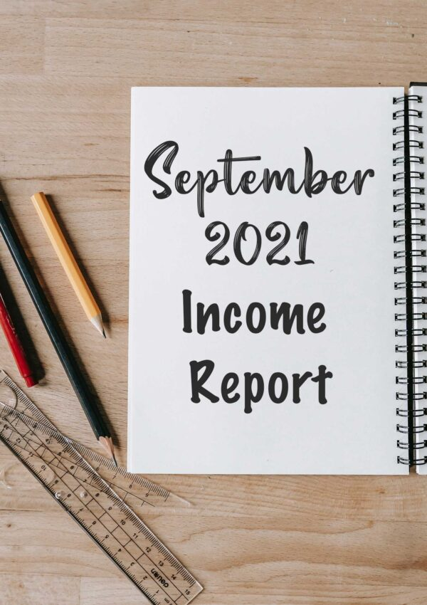 September income report on a notebook pahe